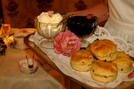 The scent of freshly baked scones fill the air as you walk into Rose Tree Cottage