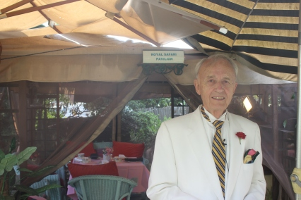Owner Edmund Fry shows us the Royal Safari Pavilion evokes memories of Out of Africa