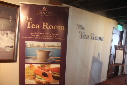 The Tea Room aboard The Queen Mary offers unparalleled views of the Long Beach harbor.