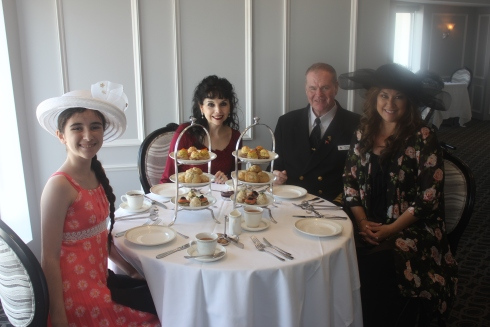 Afternoon Tea with the Commodore and our Tea Tasting Team: Elyse Ashton and Juliette Boland