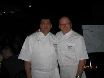 Intercontinental Park Lane London Chef Paul Bates and Pastry Chef Luis Mesa.