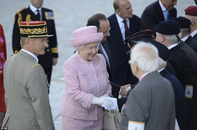 The Queen meets with D-Day Veterans