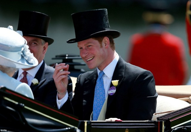 Dapper Prince Harry attends his first Royal Ascot