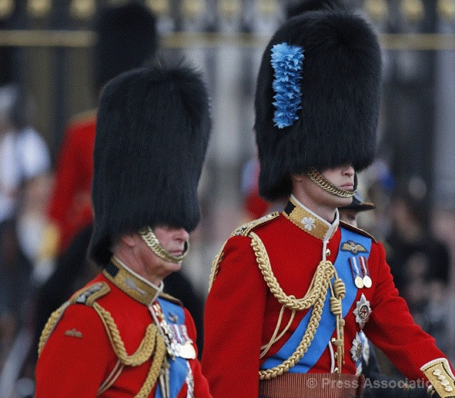 Prince Charles and Prince William. Trooping the Colour 2014