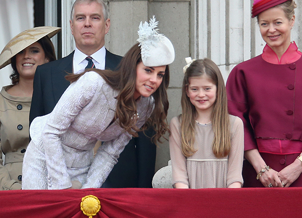 The Duchess of Cambridge and young Estella Taylor