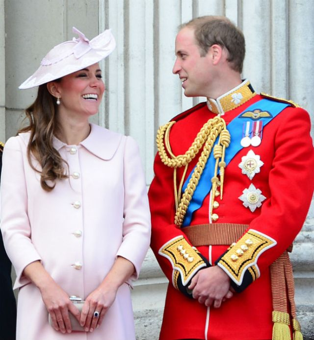 Last year an expectant Duchess of Cambridge attends Trooping the Colour