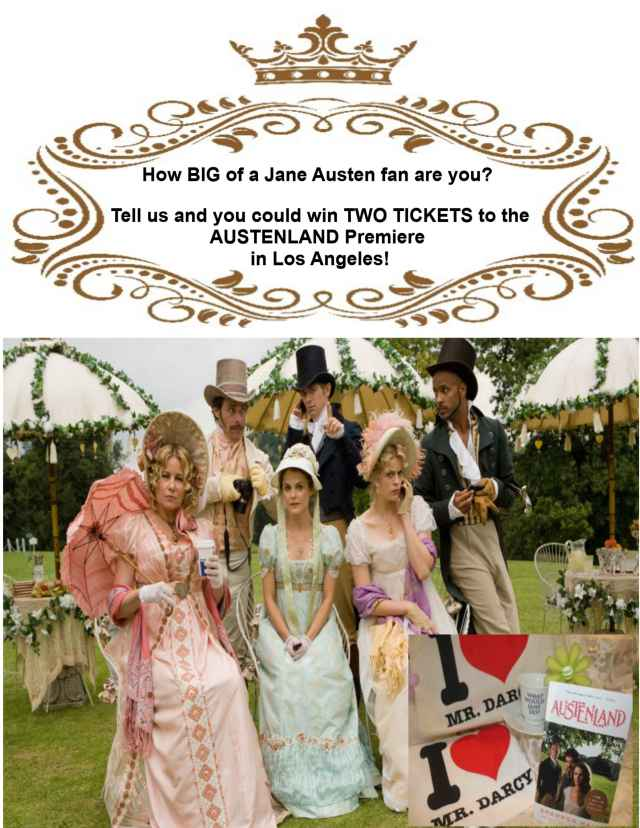 WIN Tickets To AUSTENLAND Red Carpet Premiere!