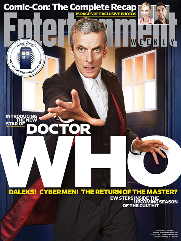 The NEW Doctor on the Aug 8th cover of Entertainment Weekly