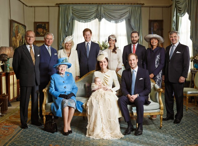 After the christening, the family gathered at Clarence House for tea.