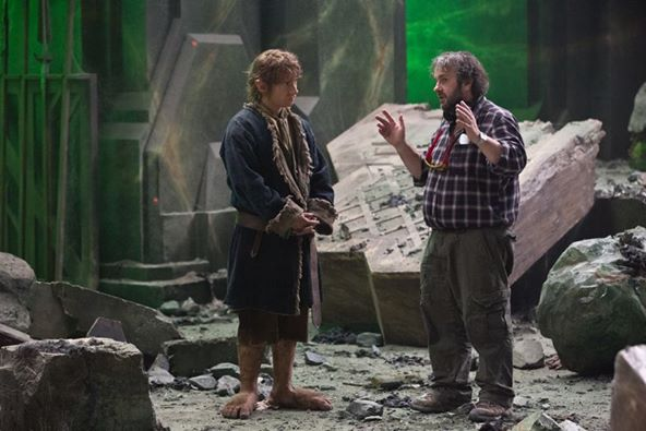 Peter Jackson directs Martin Freeman in The Hobbit: The Desolation of Smaug