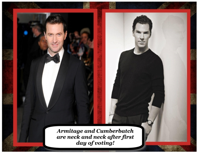 Cumberbatch and Armitage emerge in a dead-heat tie!