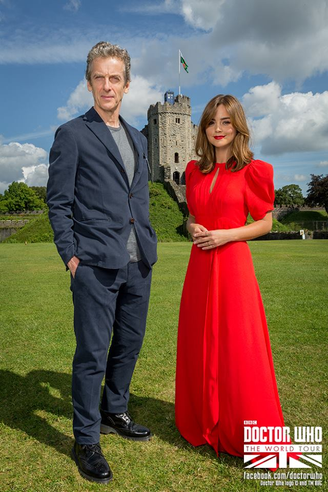 Jenna Coleman looks lovely and ready to take on another Doctor
