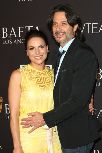 """Once Upon A Time's"" gorgeous ""Evil"" Queen Regina...Lana Parrilla and husband, Fred di Blasio"