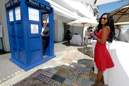 As tea was not the only beverage served...the TARDIS was on hand as 'designated driver'