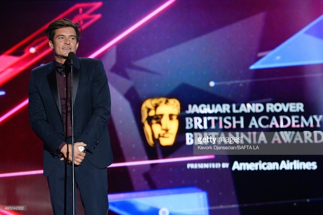 (EXCLUSIVE COVERAGE) attends the 2015 Jaguar Land Rover British Academy Britannia Awards presented by American Airlines at The Beverly Hilton Hotel on October 30, 2015 in Beverly Hills, California.