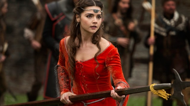 Jenna Coleman definitely rocking the Maid Marian look!