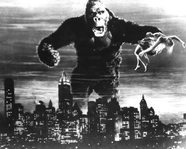 King Kong captures Fay Wray in 1933 classic.