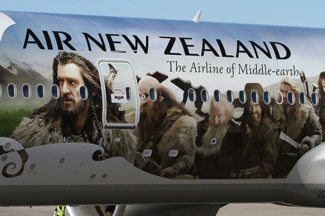 Air New Zealand graced by the faces of The Hobbit stars!