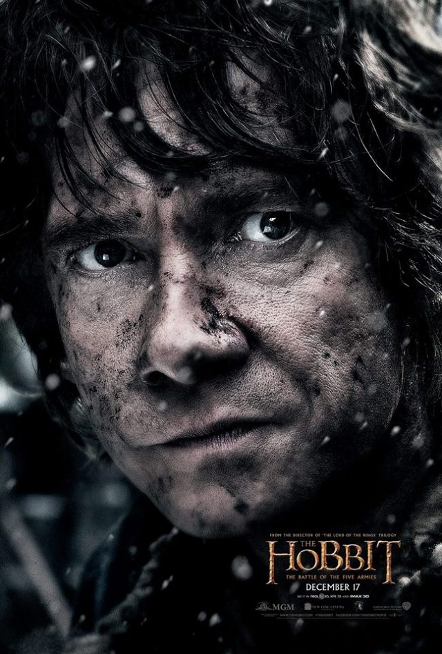 The final poster reveal featuring Martin Freeman. What an amazing arc this character has had from the first Hobbit film!