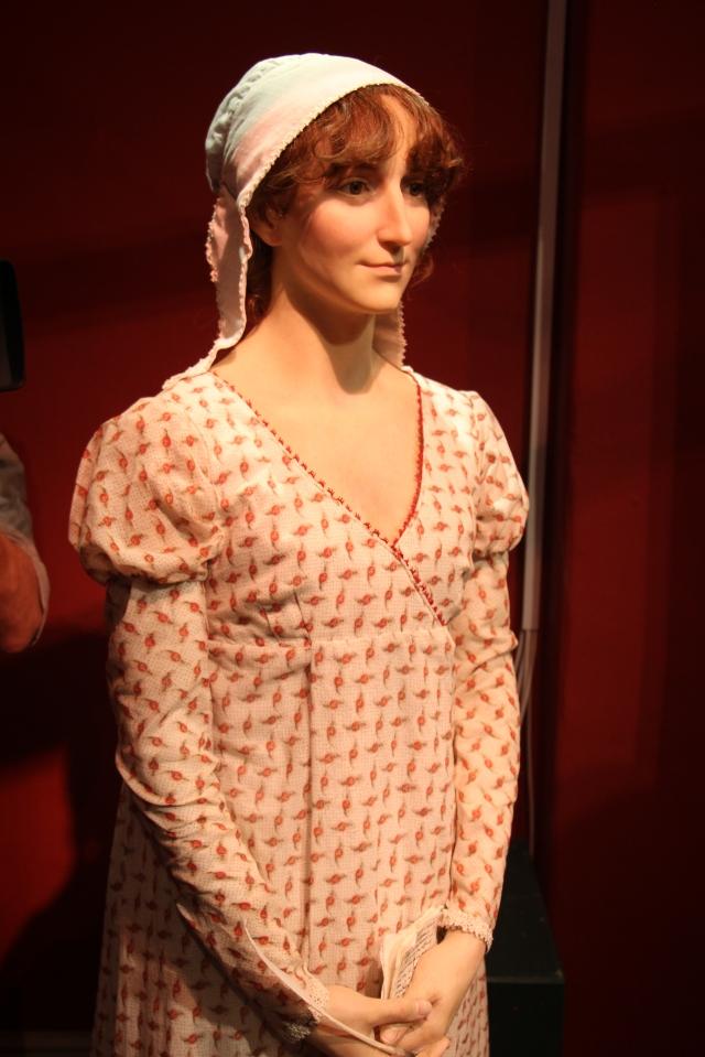 New Jane Austen Wax Sculpture on display at The Jane Austen Centre, Bath
