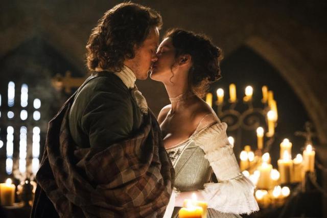 Outlander stars, Sam Heughan and Caitriona Balfe...HOT!
