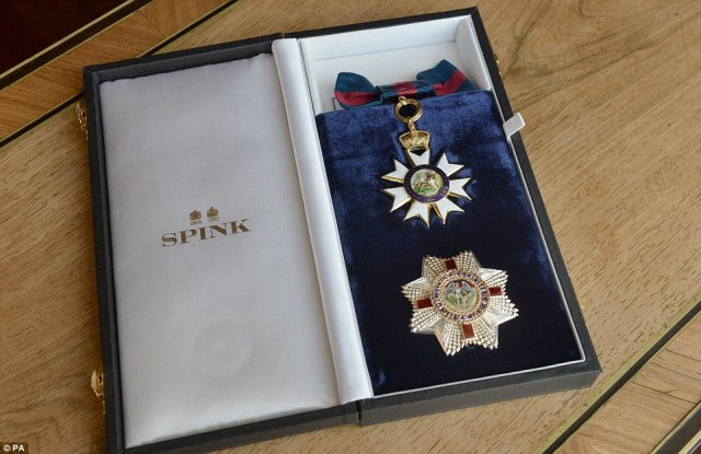The Honorary Dame Grand Cross of the Most Distinguished Order of St Michael and St George