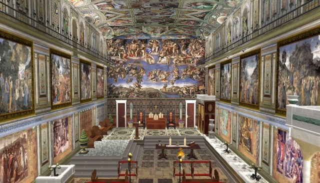 The room where every knew pope is chosen...can now be rented out for special events.