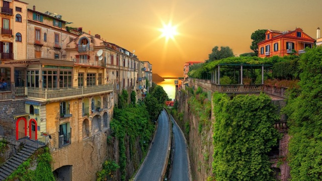 Sorrento, Italy: The birthplace of Limoncello so the cast will be PLENTY loose before all those interviews!