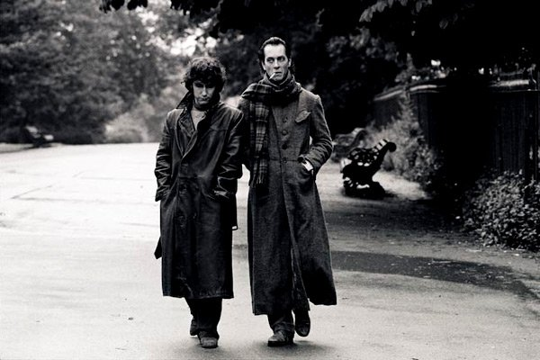 Richard E Grant wears the now iconic Andrea Galer jacket