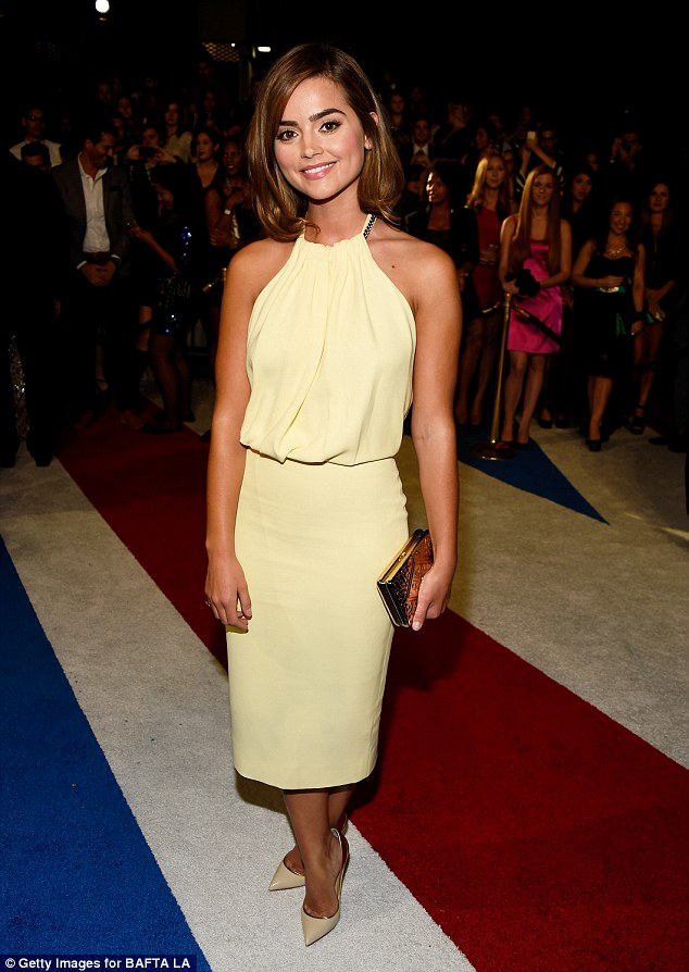 Jenna Coleman gets our Best Dressed in this Victoria Beckham halter dress.