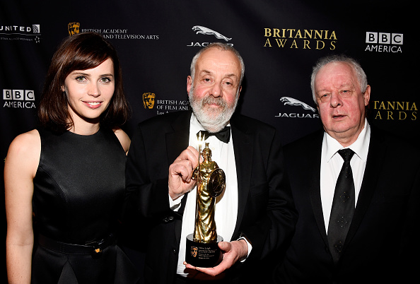Felicity Jones, Britannia Honoree Mike Leigh, and Jim Sheridan