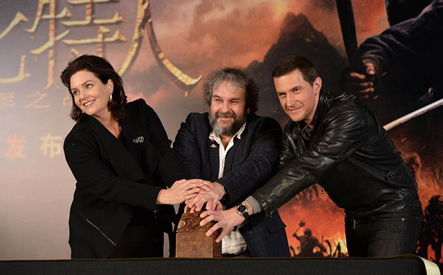 Hobbit Press Conference with Peter Jackson, Richard Armitage and scriptwriter Philippa Boyens.