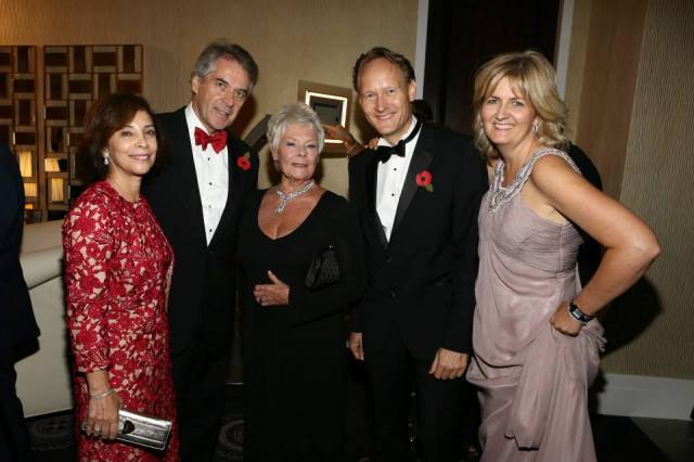 Sir Peter and Lady Westmacott, Dame Judi Dench and British Consul-General Chris O' Connor and
