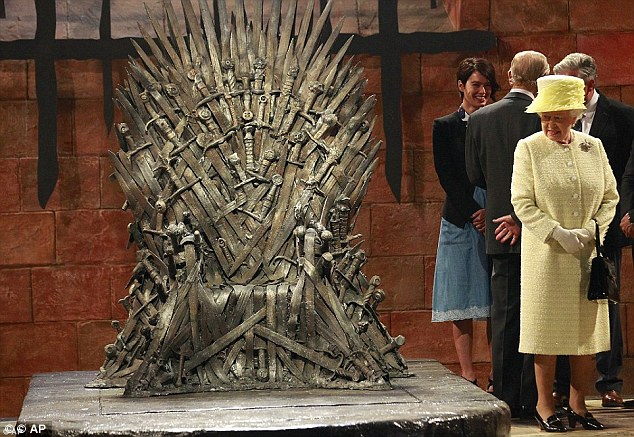 The Queen visits Game of Thrones set