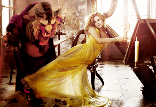 Emma in a Belle-esque scenario. Let the fan act begin...