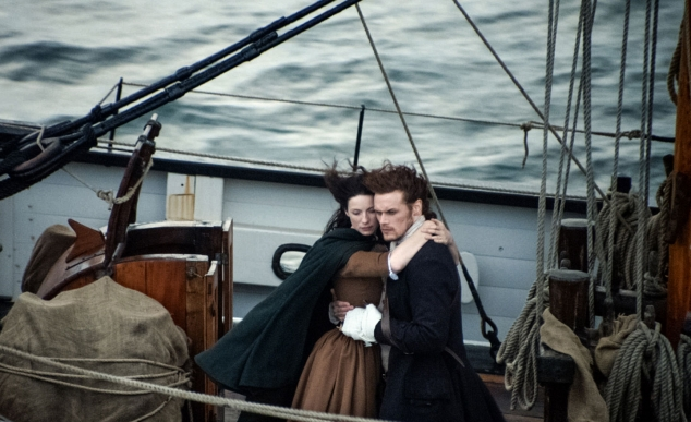 Jamie and Claire off to the next chapter of their lives! #Droughtlander Begins!