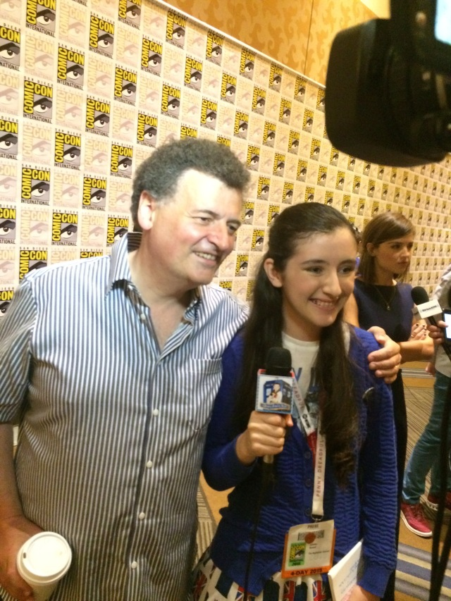Show-runner and Writer of Doctor Who, Stephen Moffat...Juliette's favorite writer in television!