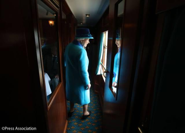 A contemplative moment as The Queen becomes the longest reigning monarch in British history!