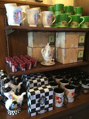 Alice in Wonderland teatime display.