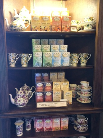 Twinings teatime display.