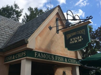 "Epcot's ""chippy,"" the Yorkshire County Fish Shop."