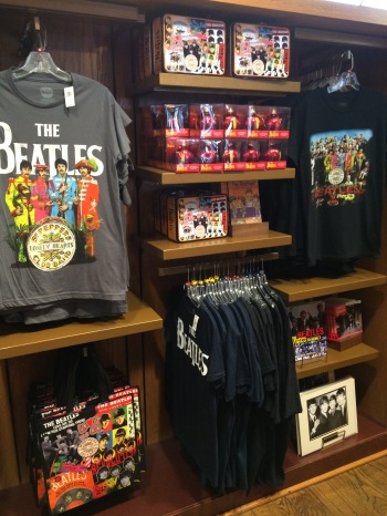 The Beatles display.