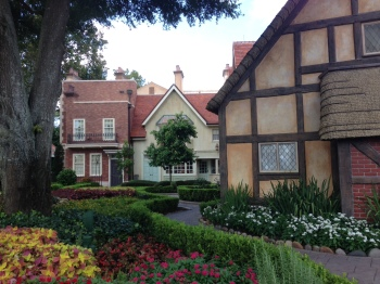 English country garden at Epcot.