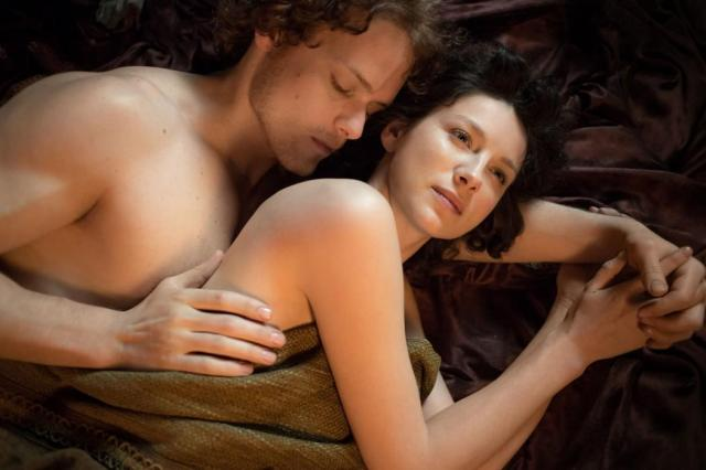 Sam Heughan and Caitriona Balfe, Outlander Photo: Sony Pictures