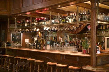 English Victorian Oak Bar